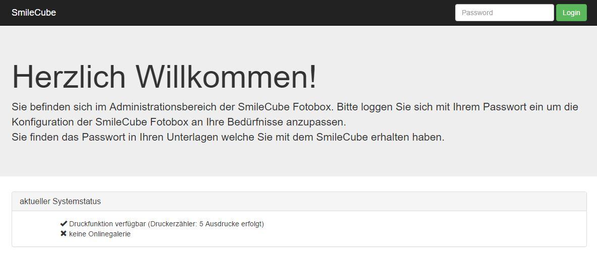 SmileCube Fotobox Konfigurieren