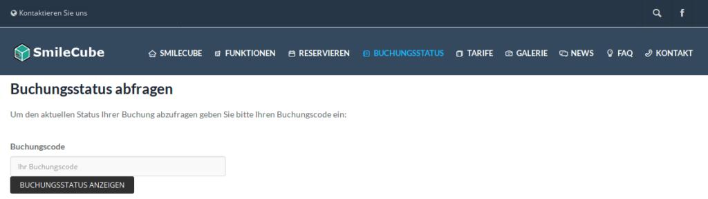 SmileCube vorkonfigurieren - Buchungsstatus abfragen