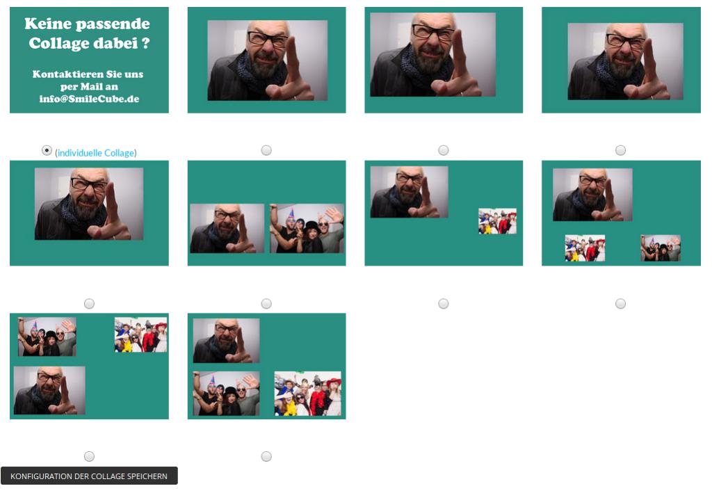 SmileCube vorkonfigurieren - Bildpositionen wählen